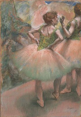《踊り子たち、ピンクと緑》