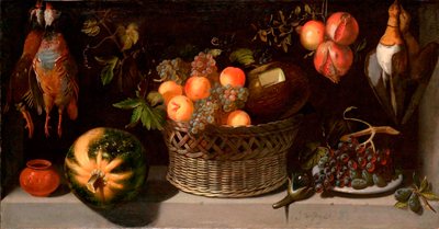 Still Life with a Basket of Fruit and Game Fowl, c.